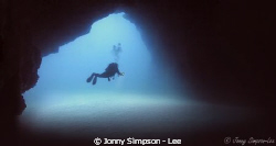 Diver at the Cathedral in Lazarote - Sea &amp; Sea 800G - Feb... by Jonny Simpson - Lee 